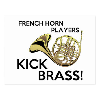 French Horn Players Kick Brass Postcard