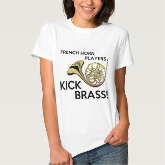 French Horn Players Kick Brass Tee Shirt