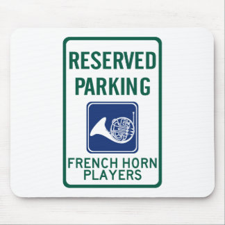 French Horn Players Parking Mouse Pad