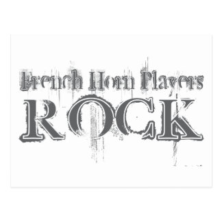 French Horn Players Rock Post Cards