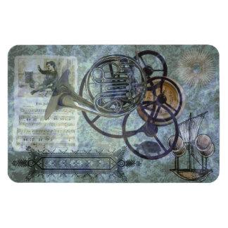 French Horn Steampunk Medley Rectangular Photo Magnet