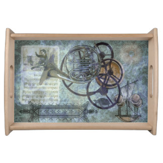French Horn Steampunk Medley Serving Platters