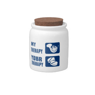 french horn therapy design candy jar