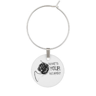 French Horn Weapon Wine Charm