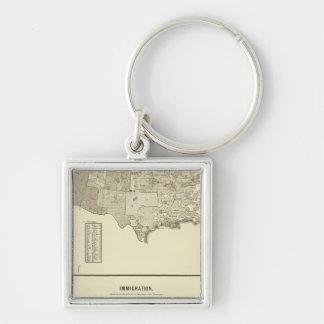 French Immigration Key Ring