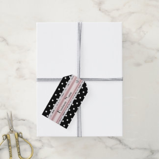 French Inspired Polka Dot Custom Business Tags