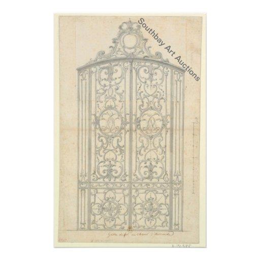 French Iron Choir Gate Flyer