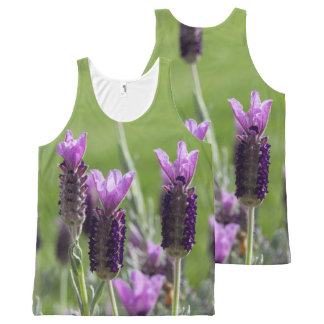 French Lavender Flowers All Over Tank Top