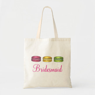 French Macaron Cookies Bridesmaid Wedding Tote