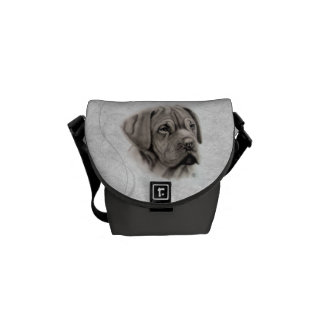 French Mastiff Portrait Courier Bags