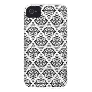 French Pattern in Black & White iPhone 4 Cover