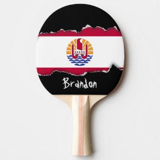 French Polenysia flag Ping Pong Paddle