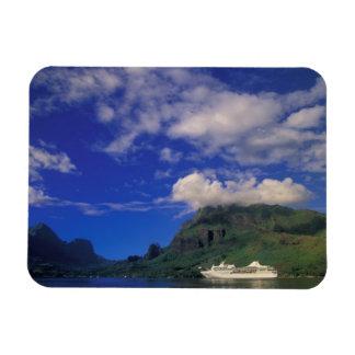 French Polynesia, Moorea. Cooks Bay. Cruise ship 3 Magnet