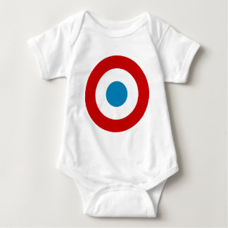 French Revolution Roundel France Cocarde Tricolore Baby Bodysuit