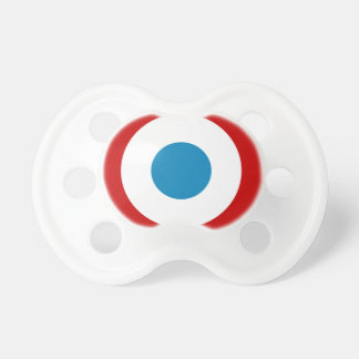 French Revolution Roundel France Cocarde Tricolore Baby Pacifier