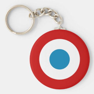 French Revolution Roundel France Cocarde Tricolore Basic Round Button Key Ring