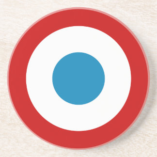 French Revolution Roundel France Cocarde Tricolore Beverage Coasters