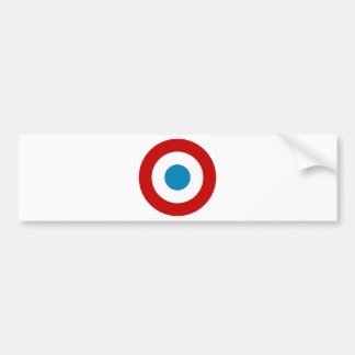 French Revolution Roundel France Cocarde Tricolore Bumper Sticker