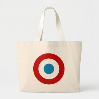 French Revolution Roundel France Cocarde Tricolore Large Tote Bag