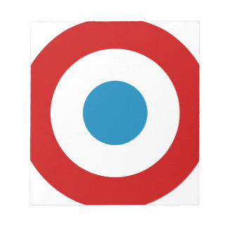 French Revolution Roundel France Cocarde Tricolore Notepads