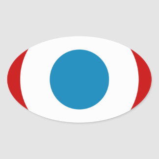 French Revolution Roundel France Cocarde Tricolore Oval Sticker