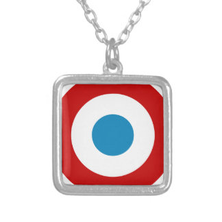 French Revolution Roundel France Cocarde Tricolore Silver Plated Necklace