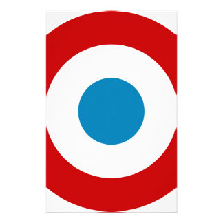 French Revolution Roundel France Cocarde Tricolore Stationery Paper