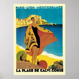 French Riviera La Plage De Calvi Corse Posters
