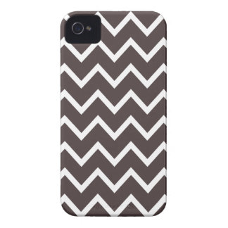 French Roast Brown Chevron Iphone 4S Case iPhone 4 Cases