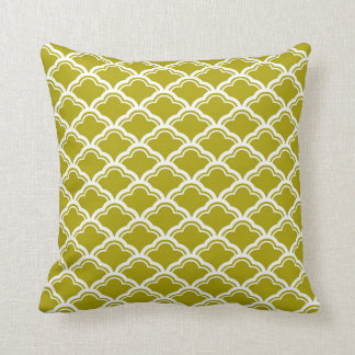 French Scallop Pattern in Chartreuse Green Cushion