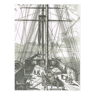French Ship of the line 1800s  deck activities Post Cards