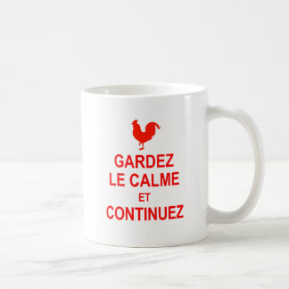 French Version of Keep Calm and Carry On Mugs
