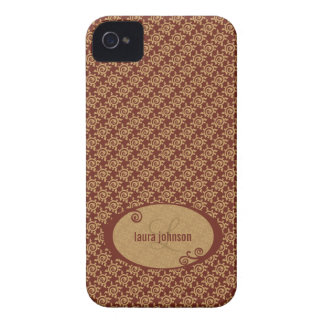 French Vintage Floral Pattern iPhone 4 Covers