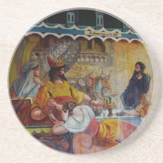 Fresco Painted Church Hawaii Coaster