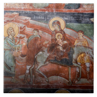 Frescoes from the 14th Century Serbian Church, Tile