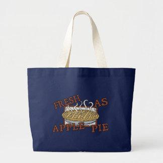 Fresh As Apple Pie Large Tote Bag
