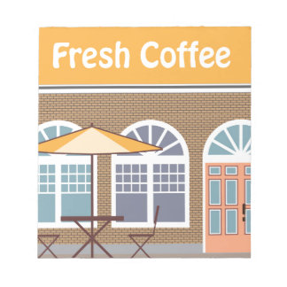 Fresh Coffee Cafe Notepad