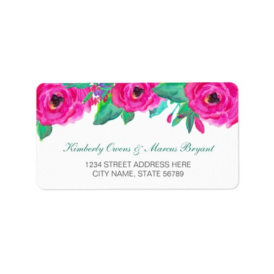 Fresh Florals Address Labels