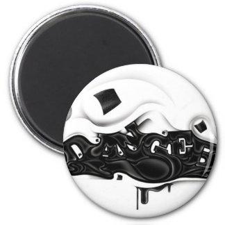 Fresh, Funky, Fashionable, Retro, Cool 6 Cm Round Magnet