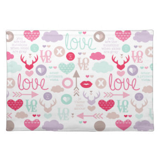 Fresh Individual Love Tablecloth Placemat