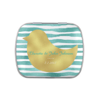 Fresh Mint Stripes Jelly Belly™ Candy Gift Jelly Belly Candy Tin