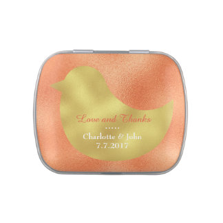 Fresh Peach Orange Jelly Belly™ Candy Gift Jelly Belly Tin