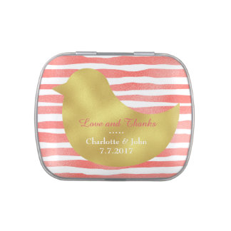 Fresh Peach Stripes Jelly Belly™ Candy Gift Candy Tin