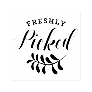 Freshly Picked Typography | Fresh Produce Self-inking Stamp