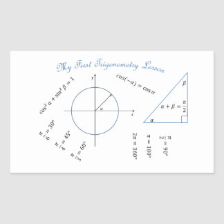Freshman Trigonometry Item Rectangular Sticker