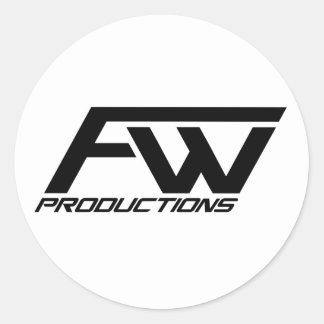 FreshWorks logo sticker! Round Sticker