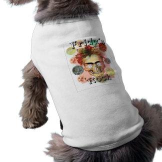 Frida.jpg skull sleeveless dog shirt
