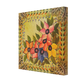 Frida Kahlo Painted Flores Canvas Print