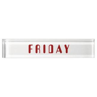 Friday Amelia Desk Nameplate by Janz