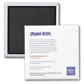 Fridge Art: John Dyer Artist Information Magnet